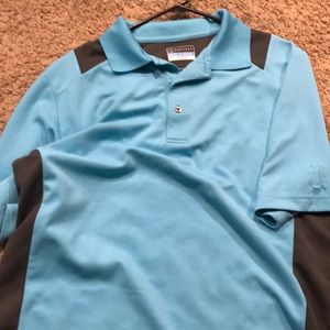 Men's PGA Tour Blue Airflux Polo Shirt
